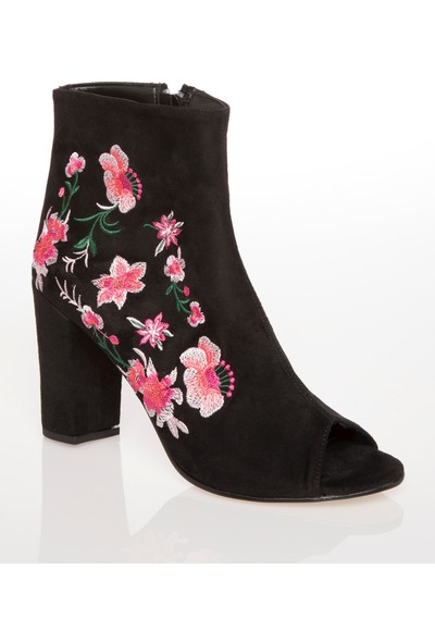 Defacto Nakış Detaylı Topuklu Ayakkabı