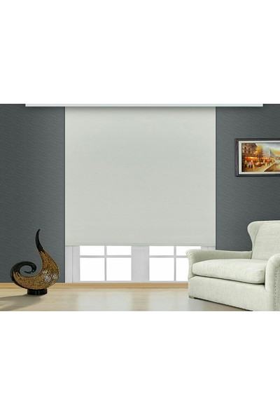Brillant Blackout Karartma Işık Geçirmeyen Stor Perde Beyaz MS1800 100 x 200 cm