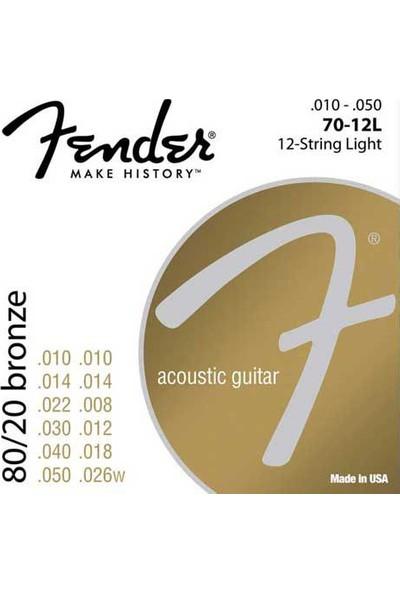 Fender 70Xl 80/20 Bronze Ball End 10-48 Akustik Gitar Teli