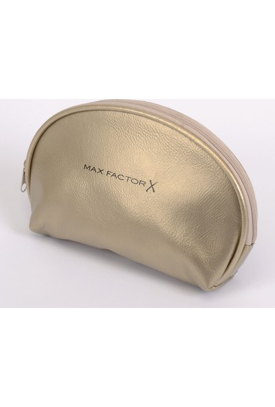 Max Factor Gold Oval Makyaj Çantası