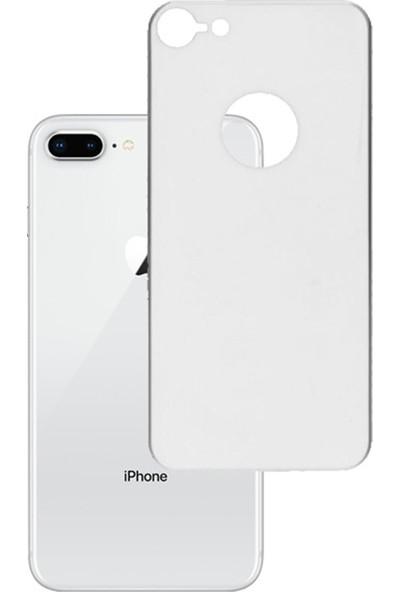 Eiroo iPhone 7 / 8 Tempered Glass Arka Beyaz Cam Ekran Koruyucu