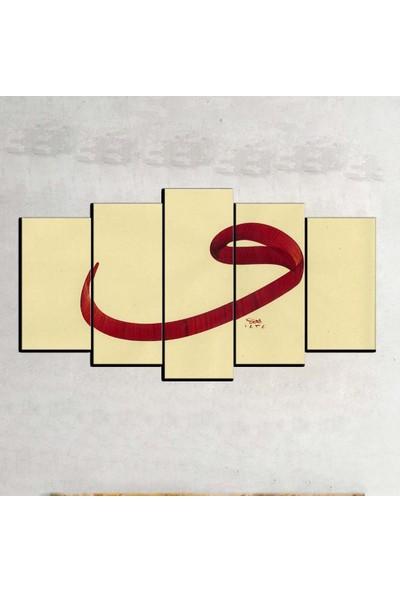 Kanvas Burada DİN5-70 Vav Dini Dekoratif 5 Parçalı Kanvas Tablo - 120 x 60 cm
