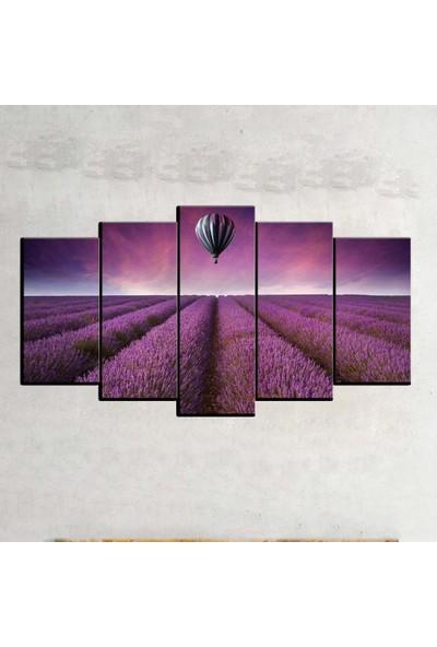 Kanvas Burada FLO5-36 Çiçek 5 Parçalı Dekoratif Kanvas Tablo - 120 x 60 cm