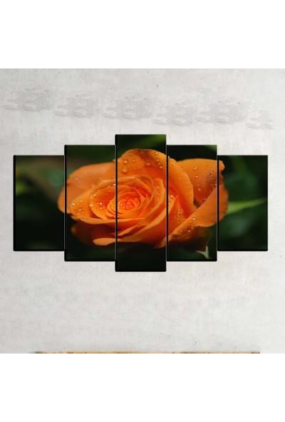 Kanvas Burada FLO5-135 Çiçek 5 Parçalı Dekoratif Kanvas Tablo - 120 x 60 cm