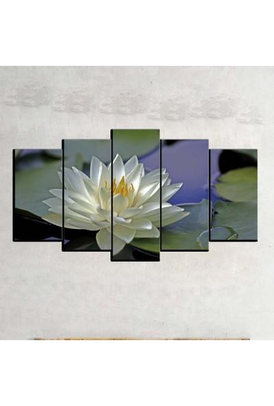 Kanvas Burada FLO5-407 Çiçek 5 Parçalı Dekoratif Kanvas Tablo - 120 x 60 cm