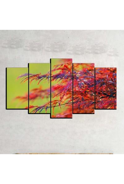 Kanvas Burada FLO5-461 Çiçek 5 Parçalı Dekoratif Kanvas Tablo - 120 x 60 cm
