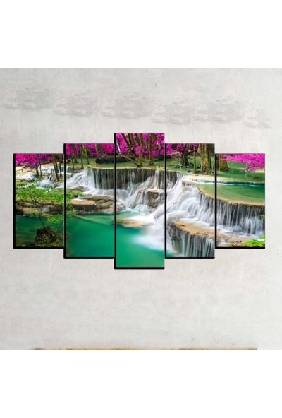 Kanvas Burada MNZ5-7 Manzara 5 Parçalı Kanvas Tablo - 120 x 60 cm