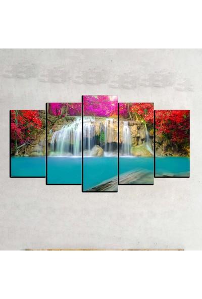 Kanvas Burada MNZ5-11 Manzara 5 Parçalı Kanvas Tablo - 120 x 60 cm