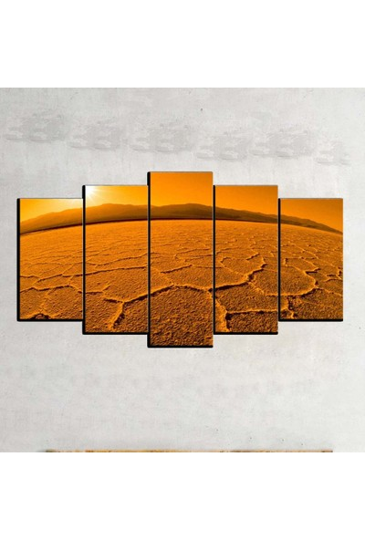 Kanvas Burada MNZ5-257 Manzara 5 Parçalı Kanvas Tablo - 120 x 60 cm