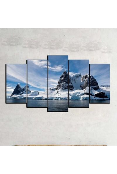 Kanvas Burada MNZ5-325 Manzara 5 Parçalı Kanvas Tablo - 120 x 60 cm