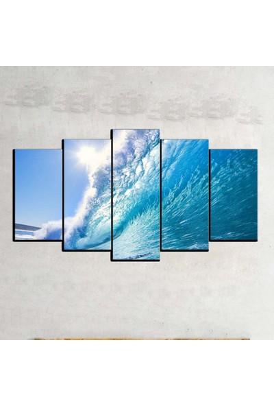 Kanvas Burada MNZ5-329 Manzara 5 Parçalı Kanvas Tablo - 120 x 60 cm