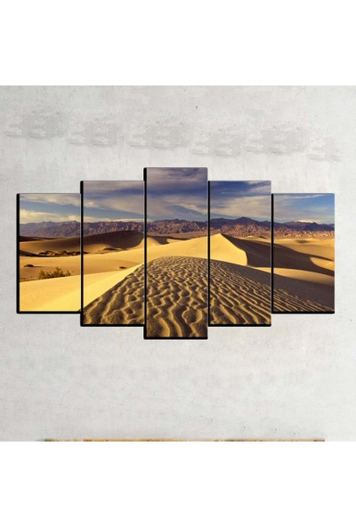 Kanvas Burada MNZ5-367 Manzara 5 Parçalı Kanvas Tablo - 150 x 75 cm