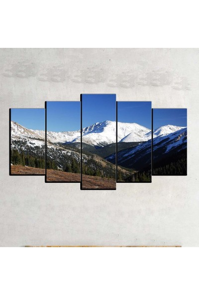 Kanvas Burada MNZ5-380 Manzara 5 Parçalı Kanvas Tablo - 120 x 60 cm