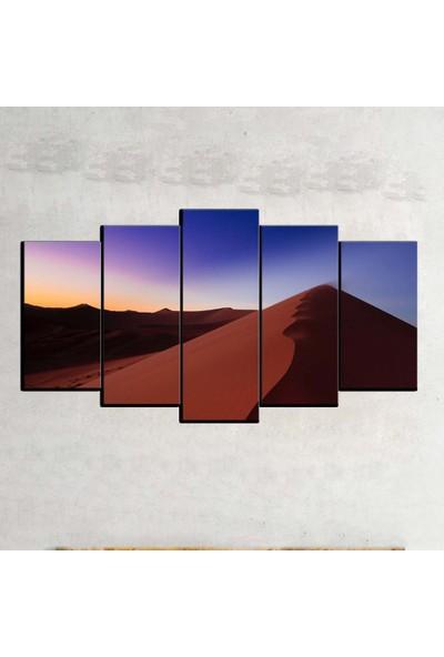 Kanvas Burada MNZ5-423 Manzara 5 Parçalı Kanvas Tablo - 120 x 60 cm