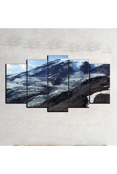 Kanvas Burada MNZ5-454 Manzara 5 Parçalı Kanvas Tablo - 120 x 60 cm