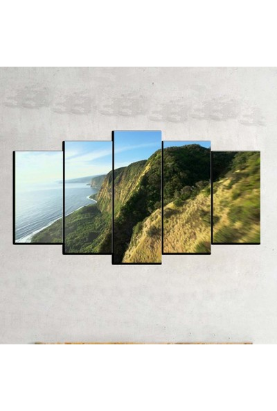 Kanvas Burada MNZ5-480 Manzara 5 Parçalı Kanvas Tablo - 120 x 60 cm