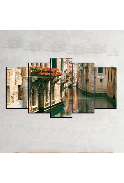 Kanvas Burada MNZ5-574 Manzara 5 Parçalı Kanvas Tablo - 120 x 60 cm