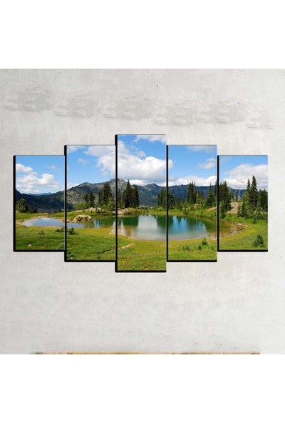 Kanvas Burada MNZ5-737 Manzara 5 Parçalı Kanvas Tablo - 120 x 60 cm