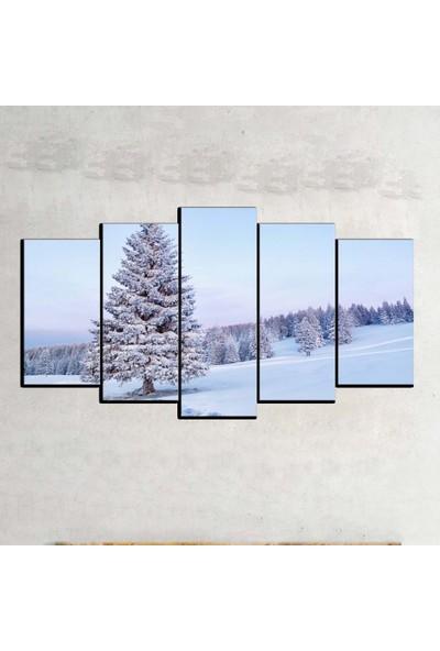 Kanvas Burada MNZ5-784 Manzara 5 Parçalı Kanvas Tablo - 120 x 60 cm