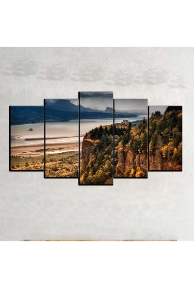 Kanvas Burada MNZ5-787 Manzara 5 Parçalı Kanvas Tablo - 120 x 60 cm