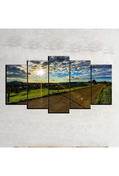 Kanvas Burada MNZ5-810 Manzara 5 Parçalı Kanvas Tablo - 120 x 60 cm