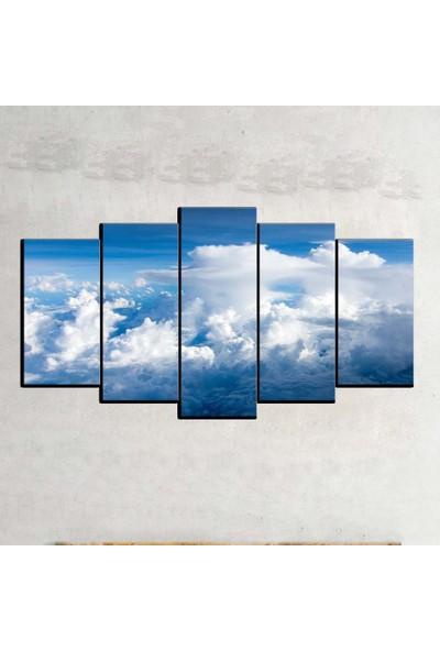 Kanvas Burada MNZ5-907 Manzara 5 Parçalı Kanvas Tablo - 120 x 60 cm