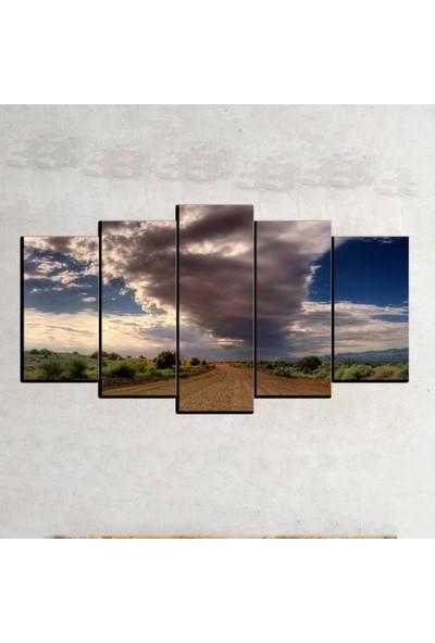 Kanvas Burada MNZ5-1027 Manzara 5 Parçalı Kanvas Tablo - 120 x 60 cm