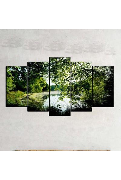 Kanvas Burada MNZ5-1046 Manzara 5 Parçalı Kanvas Tablo - 120 x 60 cm