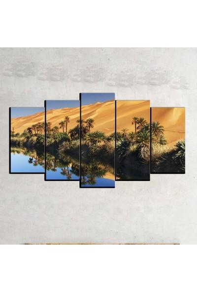 Kanvas Burada MNZ5-1333 Manzara 5 Parçalı Kanvas Tablo - 120 x 60 cm