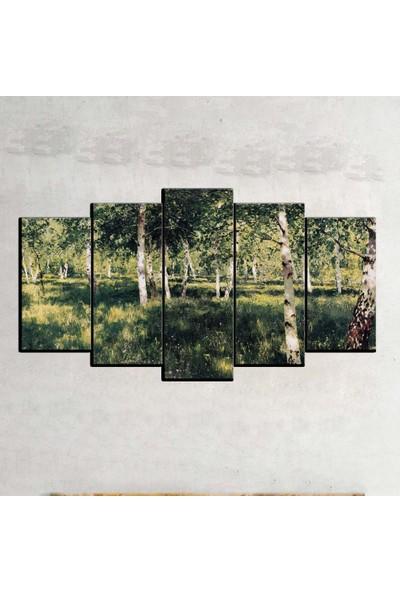 Kanvas Burada MNZ5-1342 Manzara 5 Parçalı Kanvas Tablo - 120 x 60 cm