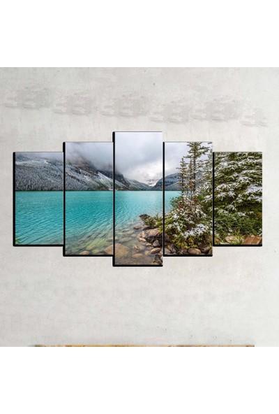 Kanvas Burada MNZ5-1347 Manzara 5 Parçalı Kanvas Tablo - 120 x 60 cm