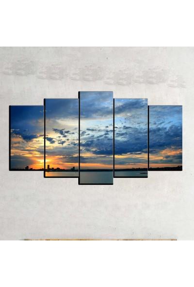 Kanvas Burada MNZ5-1711 Manzara 5 Parçalı Kanvas Tablo - 120 x 60 cm