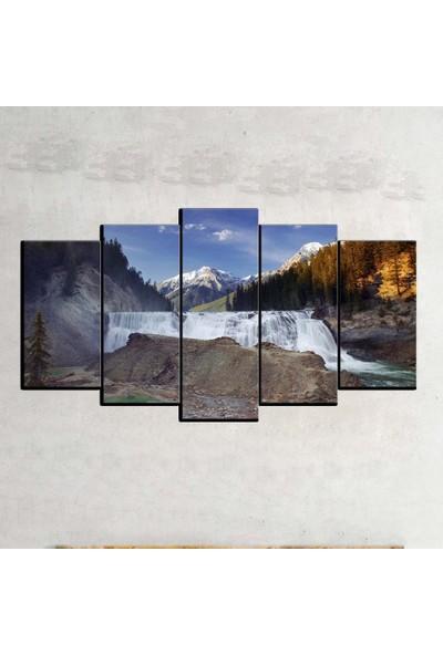 Kanvas Burada MNZ5-2027 Manzara 5 Parçalı Kanvas Tablo - 150 x 75 cm