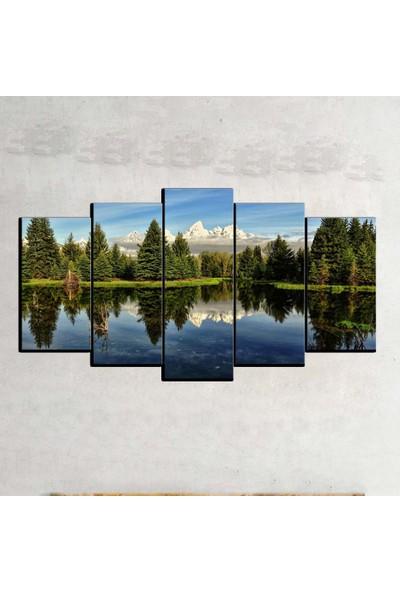 Kanvas Burada MNZ5-2036 Manzara 5 Parçalı Kanvas Tablo - 120 x 60 cm