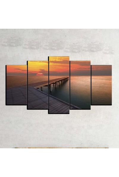 Kanvas Burada MNZ5-2088 Manzara 5 Parçalı Kanvas Tablo - 120 x 60 cm