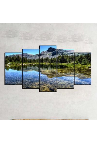 Kanvas Burada MNZ5-2097 Manzara 5 Parçalı Kanvas Tablo - 120 x 60 cm
