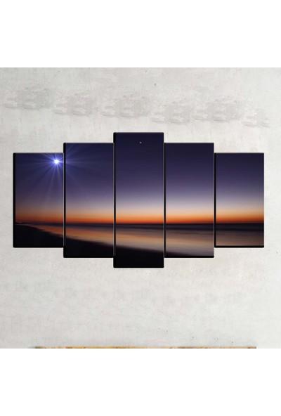 Kanvas Burada MNZ5-2163 Manzara 5 Parçalı Kanvas Tablo - 120 x 60 cm