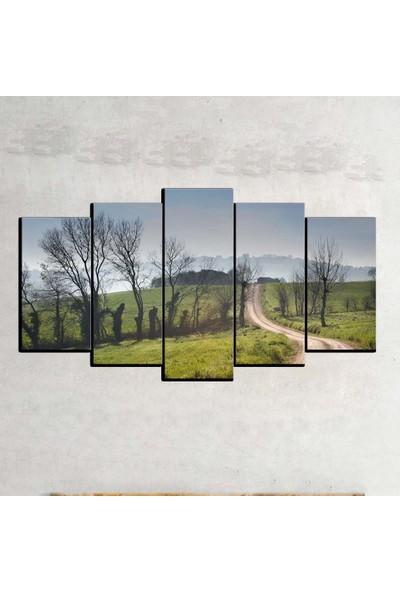 Kanvas Burada MNZ5-2176 Manzara 5 Parçalı Kanvas Tablo - 150 x 75 cm
