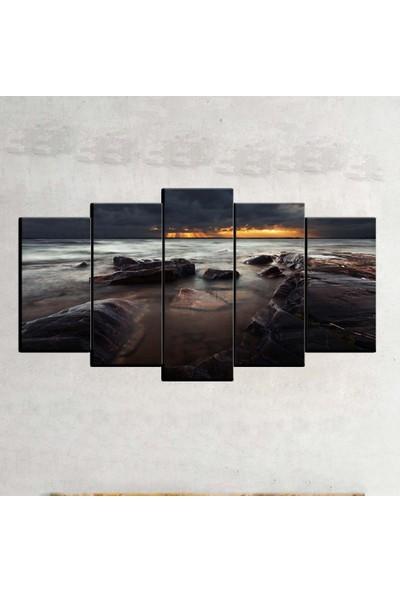 Kanvas Burada MNZ5-2243 Manzara 5 Parçalı Kanvas Tablo - 120 x 60 cm