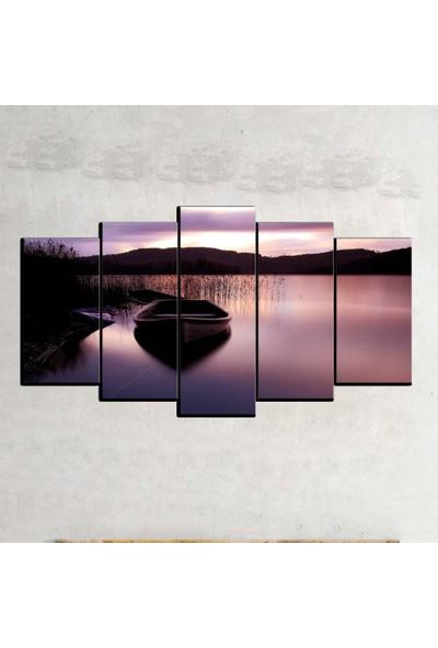 Kanvas Burada MNZ5-2259 Manzara 5 Parçalı Kanvas Tablo - 120 x 60 cm