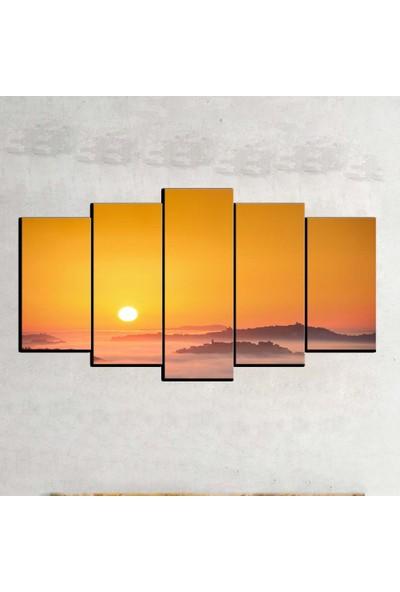 Kanvas Burada MNZ5-2404 Manzara 5 Parçalı Kanvas Tablo - 120 x 60 cm