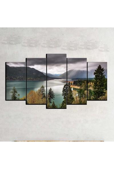 Kanvas Burada MNZ5-2447 Manzara 5 Parçalı Kanvas Tablo - 120 x 60 cm