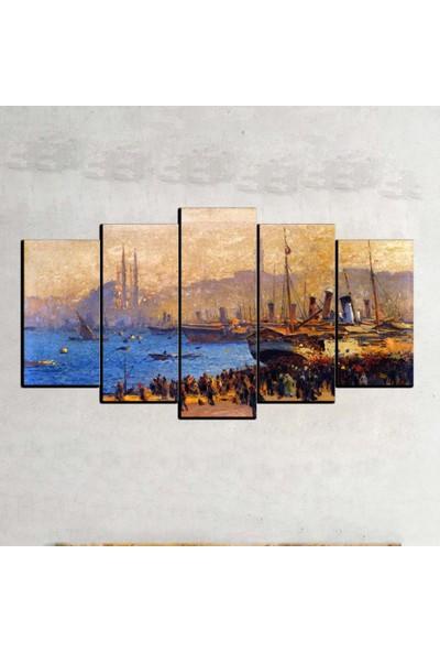 Kanvas Burada OİL5-24 Yağlıboya 5 Parçalı Kanvas Tablo - 120 x 60 cm