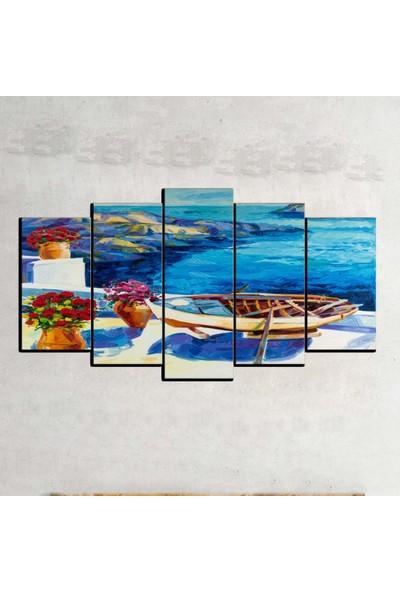Kanvas Burada OİL5-58 Yağlıboya 5 Parçalı Kanvas Tablo - 120 x 60 cm