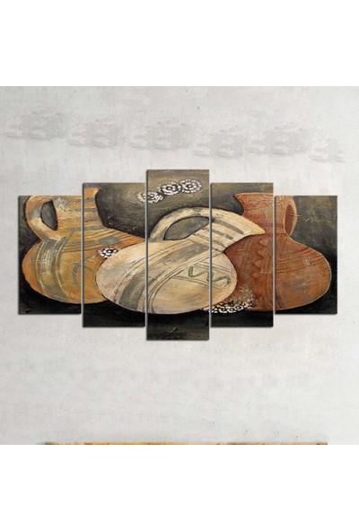 Kanvas Burada OİL5-76 Yağlıboya 5 Parçalı Kanvas Tablo - 120 x 60 cm