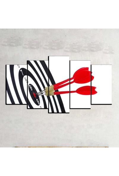 Kanvas Burada SYB5-44 Siyah Beyaz 5 Parçalı Tablo - 120 x 60 cm