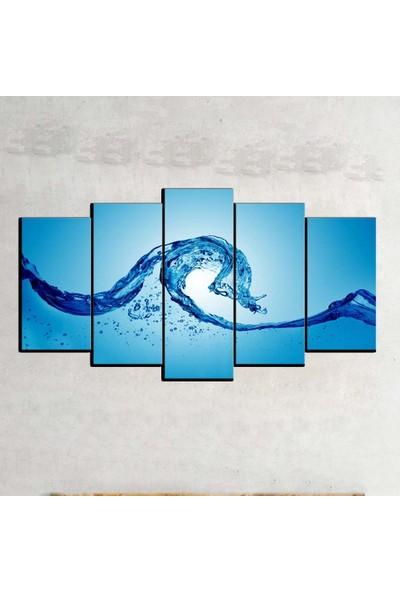 Kanvas Burada ABS5-35 Soyut 5 Parçalı Kanvas Tablo - 120 x 60 cm