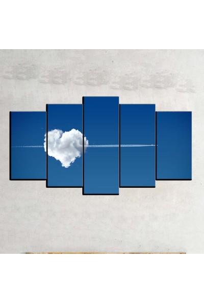Kanvas Burada ABS5-108 Soyut 5 Parçalı Kanvas Tablo - 120 x 60 cm