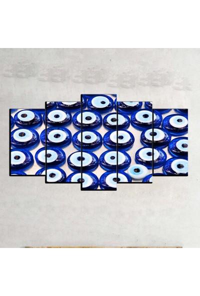 Kanvas Burada ABS5-180 Soyut 5 Parçalı Kanvas Tablo - 120 x 60 cm