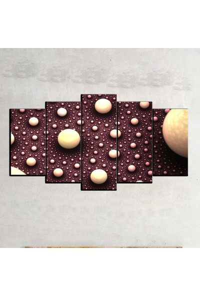 Kanvas Burada ABS5-366 Soyut 5 Parçalı Kanvas Tablo - 120 x 60 cm